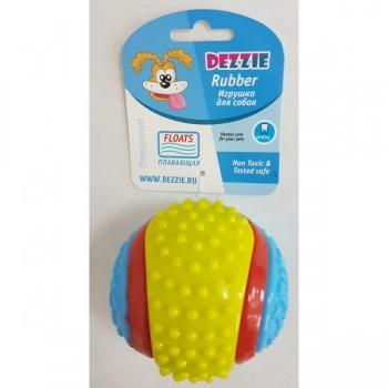 Dezzie / Деззи Игрушка Мяч рифленый для собак, 8 см, резина