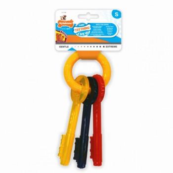Nylabone / Нилабон Ключи для щенков с режущимися зубами, аромат бекона, S