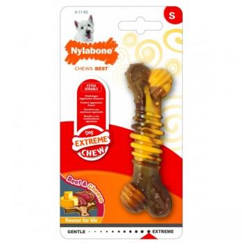 Nylabone / Нилабон Текстурная косточка экстра-жесткая, аромат говядины и сыра, S