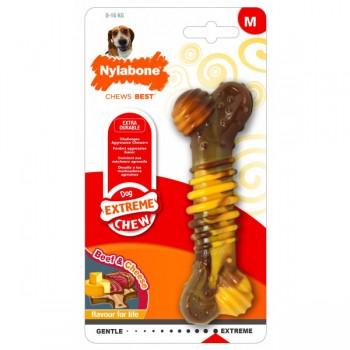 Nylabone / Нилабон Кость текстурированная экстра-жесткая, аромат говядины и сыра, М