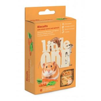 Little One Бисквиты с морковью для хомяков, крыс, мышей и песчанок, 7 гр