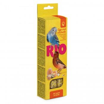 РИО Палочки для всех видов птиц с яйцом и ракушечником, 2х40 гр