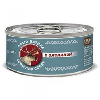 Solid Natura / Солид Натура Фаршевое консервированное питание корм д/собак с Олениной 100 гр