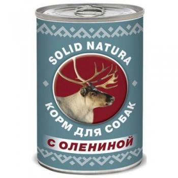 Solid Natura / Солид Натура Фаршевое консервированное питание корм д/собак с Олениной 340 гр