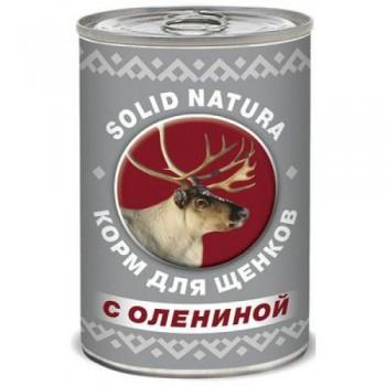 Solid Natura / Солид Натура Фаршевое консервированное питание корм д/щенков с Олениной 340 гр