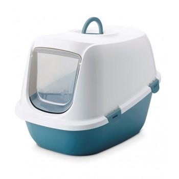 Savic / Савик Туалет-домик д/кошек Leo XL синий 64*46*45 см A2052