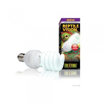 Exo Terra / Экзо Терра Лампа Reptile Vision Compact 26 W /адаптирована к 4-х рецепторному зрению рептилий/ PT2346