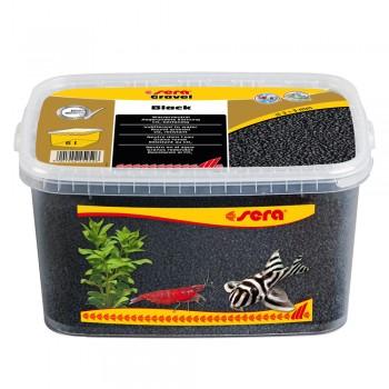 Sera / Сера грунт для аквариума Gravel Black (Черный) 2-3 мм. 6 л.
