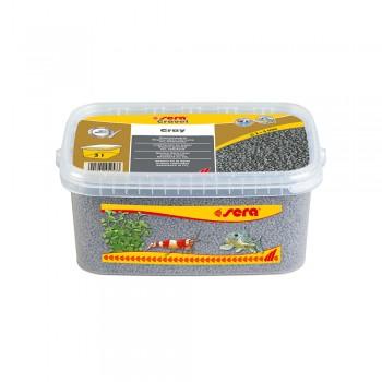 Sera / Сера грунт для аквариума Gravel Gray (Серый) 2-3 мм. 3 л.