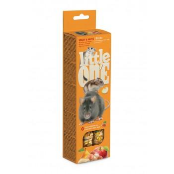 Little One Палочки для хомяков, крыс, мышей и песчанок с фруктами и орехами, 2х60 гр
