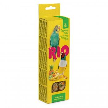 РИО Палочки для волнистых попугайчиков и экзотов с тропическими фруктами, 2х40 гр