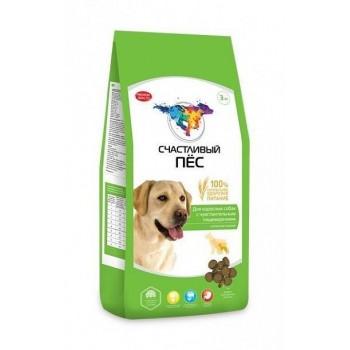 Счастливый пес для взрослых собак с чувствительным пищеварением с ягненком и рисом - 3 кг