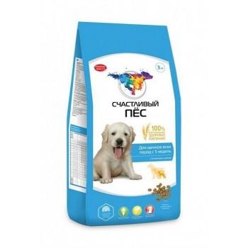 Счастливый пес для щенков всех пород с 5 недель с ягненком и рисом - 13 кг