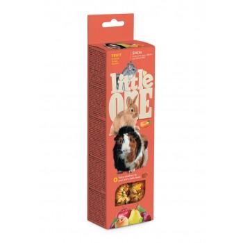 Little One Палочки для морских свинок, кроликов и шиншилл с фруктами, 2х60 гр