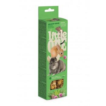 Little One Палочки для морских свинок, кроликов и шиншилл с луговыми травами, 2х55 гр
