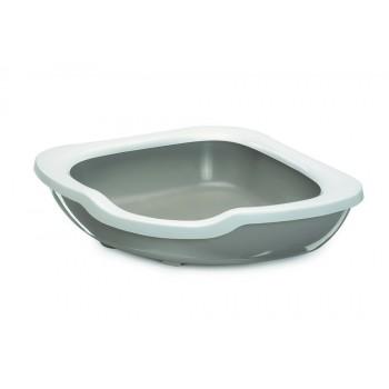 Imac / Имак туалет д/кошек с бортом угловой FRED, серый, 51х51х15,5 см