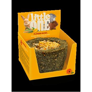 Little One Лакомство-игрушка для грызунов Лукошко цветочное съедобное из садовой петрушки и цветков календулы, 140 гр