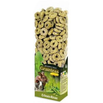 JR Farm 12727 Grainless Лакомство д/грызунов беззерновое Гороховые колечки, 150 гр