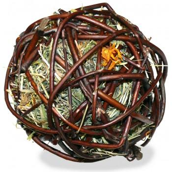 JR Farm 07709 Лакомство д/грызунов Ивовый шар с сеном и календулой, 80 гр