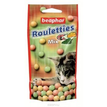 Beaphar / Беафар Лакомство шарики «Rouletties Mix» со вкусом креветок, мяты и сыра д/кошек, 80 шт