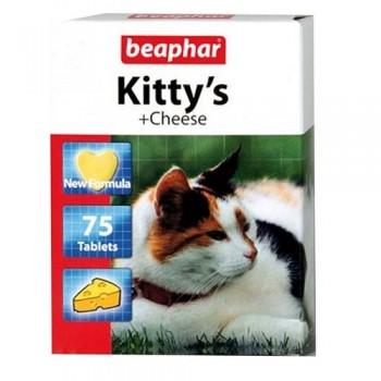 Beaphar / Беафар Витаминиз. лакомство «Kitty`s +Cheese» с сыром д/кошек, 75 шт
