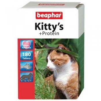 Beaphar / Беафар Витаминиз. лакомство «Kitty`s+Protein» с протеином д/кошек, 180 шт