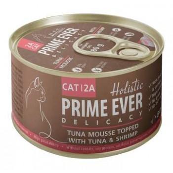 Prime Ever / Прайм Евер Конс. д/кошек 2A Delicacy Мусс тунец с креветками 80 гр
