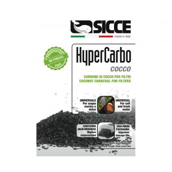 Sicce / Сичче Наполнитель для фильтров HYPERCARBO COCCO активированный уголь 2x150 г