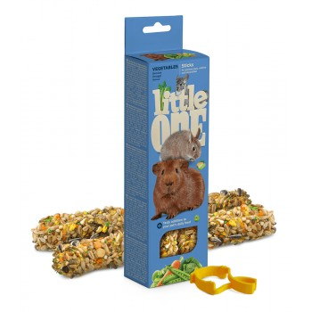 Little One Палочки для морских свинок, кроликов и шиншилл с овощами, 2х60 гр