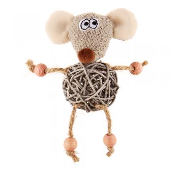 GiGwi / ГиГви 75521 Мышка с плетеным мячиком с колокольчиком