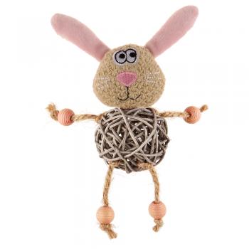 GiGwi / ГиГви 75522 Заяц с плетеным мячиком с колокольчиком