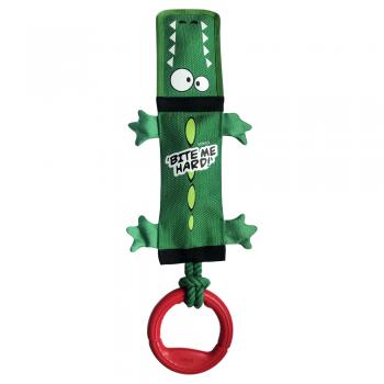 GiGwi / ГиГви 75525 Крокодил с пищалкой,веревкой и резиновым кольцом