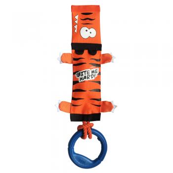 GiGwi / ГиГви 75526 Тигр с пищалкой,веревкой и резиновым кольцом