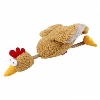 GiGwi / ГиГви Игрушка для собак Курица с пищалкой 36 см, серия CATCH & FETCH