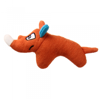 GiGwi / ГиГви Игрушка для собак Носорог с пищалкой 14 см, серия PUFFER ZOO