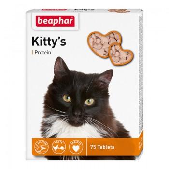 Beaphar / Беафар Витаминиз. лакомство «Kitty`s+Protein» с протеином д/кошек, 75 шт