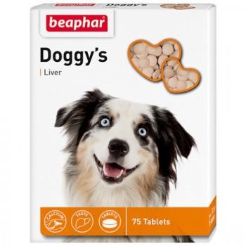 Beaphar / Беафар Витаминиз. лакомство «Doggy`s+Liver» с ливером д/собак, 75 шт