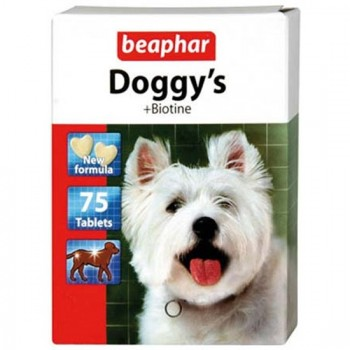 Beaphar / Беафар Витаминиз. лакомство «Doggy`s+Biotin» с биотином д/собак, 75 шт