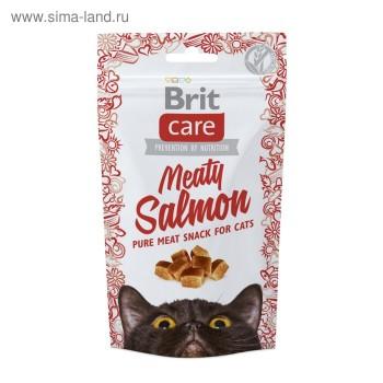 Brit / Брит Care лакомство д/кошек Meaty Salmon Лосось, 50 гр