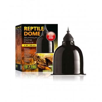 Exo Terra / Экзо Терра Светильник Reptile Dome с отражателем для ламп до  75 Вт 15.2x12.7 см. PT2348