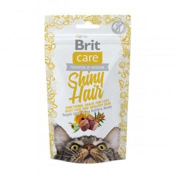 Brit / Брит Care лакомство д/кошек Shiny Hair для блестящей шерсти, 50 гр