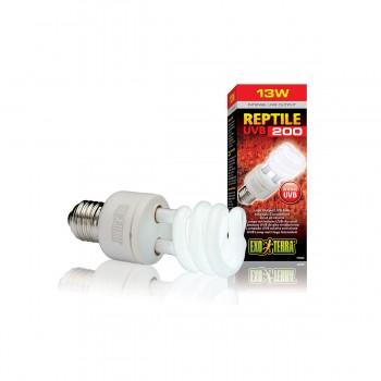 Exo Terra / Экзо Терра Лампа Reptile UVB200 Compact 13 W /для пустынных и высоких террариумов/ PT2340