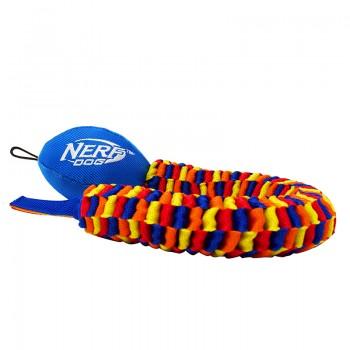 Nerf / Нёрф Мяч для регби с плетеным шлейфом, 48 см, (синий/оранжевый/зеленый/красный)