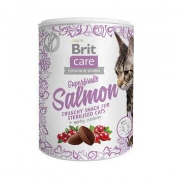 Brit / Брит Care лакомство д/кошек Superfruits Salmon steril. Суперфрутс с лосос.д/стерил, 100 гр