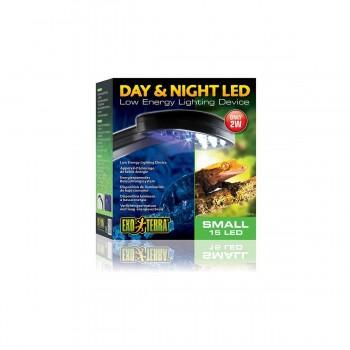 Exo Terra / Экзо Терра Светильник Led Day & Night 14 белых и 1 синий светодиода 15x16.5x7 см. PT2335