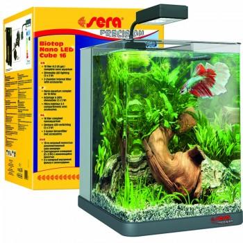 Sera / Сера BIOTOP NANO CUBE 16 LED аквариум 16л, 22x30x25см Led-Светильник Фильтр FP 150