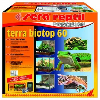 Sera / Сера BIOTOP REPTIL TERRA 60 террариум 60x60x45cм, грунт, цифровой замок, гидрометр-термометр
