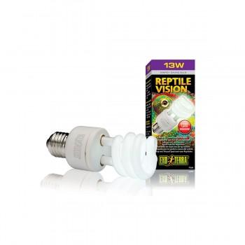 Exo Terra / Экзо Терра Лампа Reptile Vision Compact 13 W /адаптирована к 4-х рецепторному зрению рептилий/ PT2345