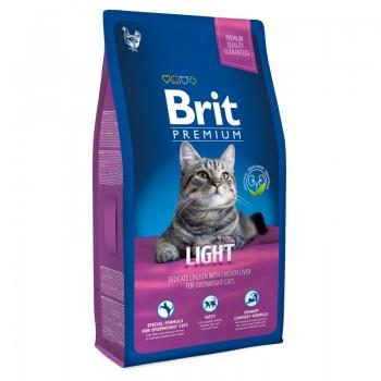 Brit / Брит Premium Cat Light курица и печень д/кошек, склонных к излиш.весу, 800 гр