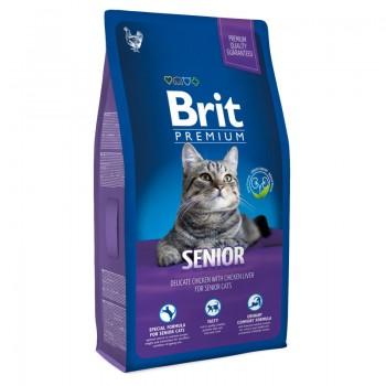 Brit / Брит Premium Cat Senior курица и печень д/пожил. кошек, 300 гр